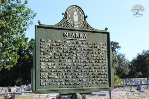 Historic Marker - Old Miakka Methodist Church Cemetary