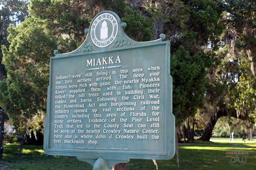 Historic Marker Back - Old Miakka Church