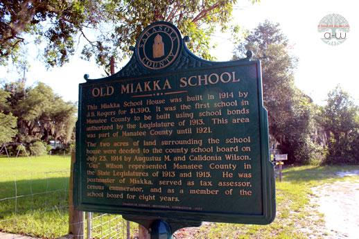 Historic Marker - Old Miakka Schoolhouse