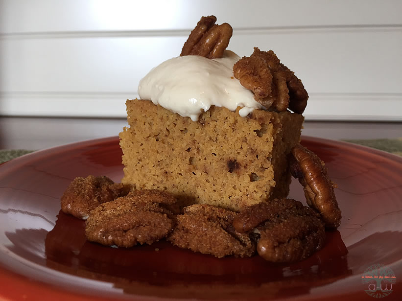 Pumpkin Crock Cake close up 820A